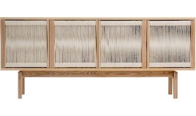 Woodman Sideboard »Lidia«, mit Türenfronten aus geflochtenem nartürlichem Hanfseil,... kaufen