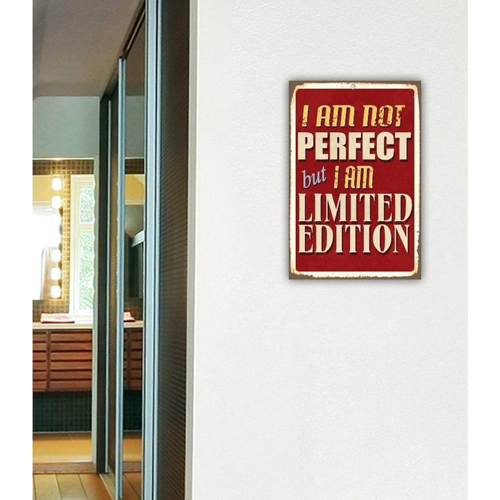 Home affaire Metallbild »I am not perfect …«, Maße (B/H): ca. 30/45 cm