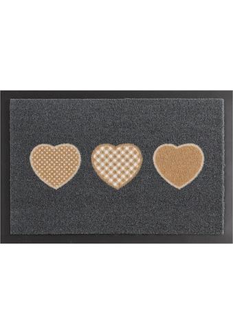 HANSE Home Fußmatte »Three Hearts«, rechteckig, 7 mm Höhe, Schmutzfangmatte,... kaufen