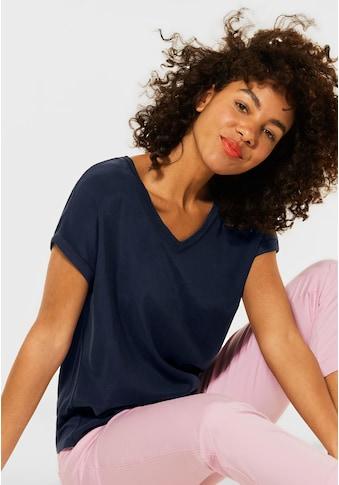 STREET ONE V-Shirt, aus softem Materialmix kaufen