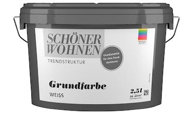 SCHÖNER WOHNEN-Kollektion Grundierfarbe »Wisch-Optik Grundfarbe«, weiss, glatt, 2,5 l kaufen