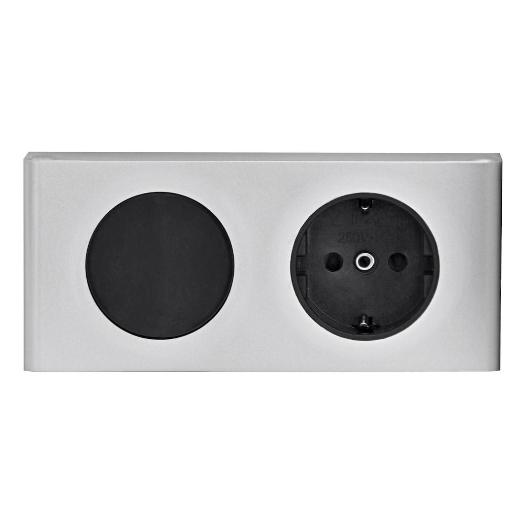 Schildmeyer Spiegelschrank »Lagona«, Breite 60 cm, 2-türig, LED-Beleuchtung, Schalter-/Steckdosenbox, Glaseinlegeböden, Made in Germany