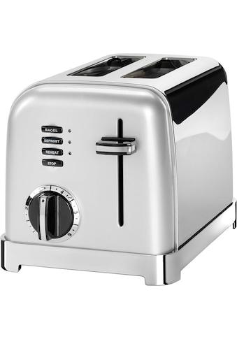 Cuisinart Toaster »CPT160SE«, 2 kurze Schlitze, für 2 Scheiben, 900 W, mit 6... kaufen