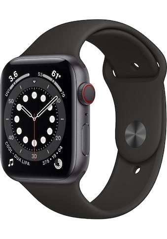 Apple Smartwatch »Series 6, GPS + Cellular, Aluminium-Gehäuse, 44 mm mit Sportarmband« kaufen