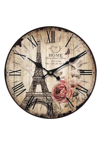 Home affaire Wanduhr »Home Paris«, rund, Ø 34 cm, römische Ziffern kaufen