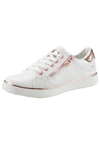 TOM TAILOR Sneaker, mit Kontrastbesatz in Metallicoptik kaufen