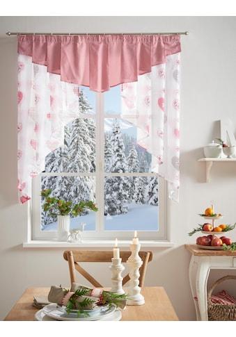 my home Scheibengardine »Jule«, Weihnachtsgardinen kaufen
