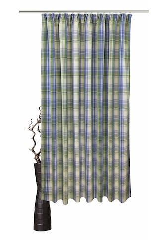 VHG Vorhang nach Maß »Lene«, Leinenoptik, Karo, skandinavisch, Breite 150 cm kaufen