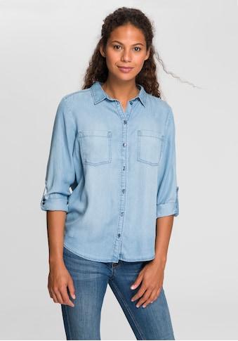 TOM TAILOR Jeansbluse, mit aufgesetzten Brusttaschen kaufen