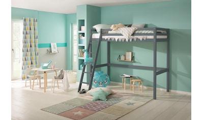 Lüttenhütt Kinderbett »Alpi«, aus massivem Kiefernholz, Inklusive Leiter und... kaufen