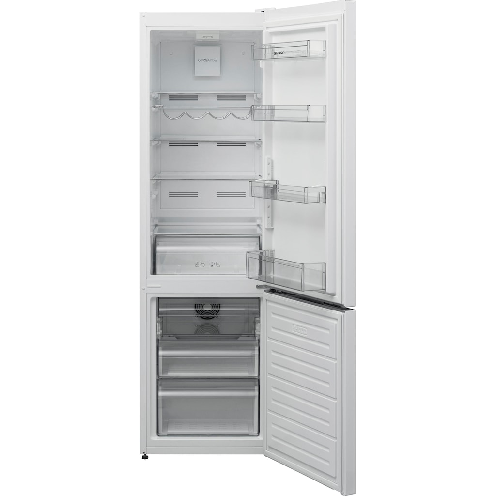 Sharp Kühl-/Gefrierkombination »SJ-BA05DTX«, SJ-BA05DTXW2-EU, 180 cm hoch, 54 cm breit