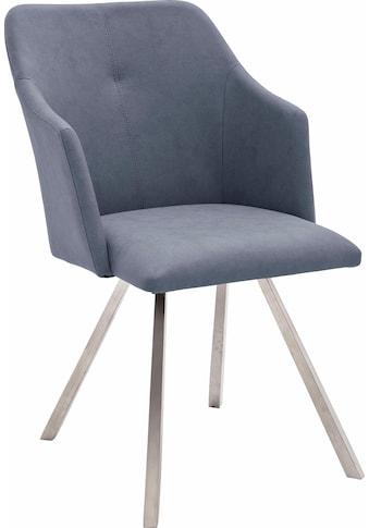 MCA furniture Esszimmerstuhl »Madita 4 Fuß Stuhl B-eckig«, Stuhl belastbar bis max.... kaufen