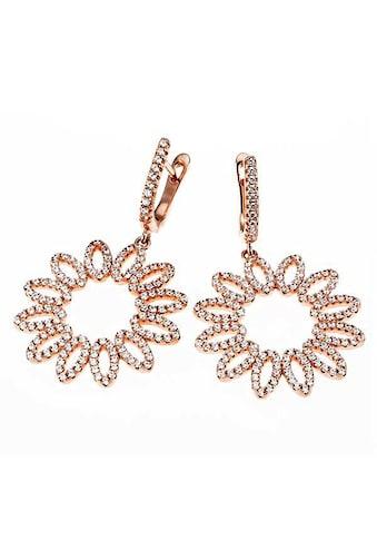 goldmaid Paar Ohrhänger Blume 925/- Silber 308 Zirkonia kaufen