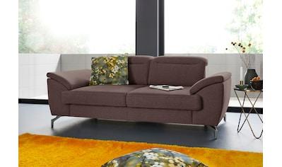 sit&more 2-Sitzer, 12 cm Fußhöhe, inklusive Sitztiefenverstellung, wahlweise... kaufen