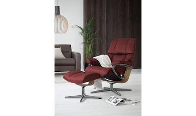 Stressless® Relaxsessel »Reno«, mit Hocker, mit Cross Base, Größe S, M & L, Gestell Eiche kaufen