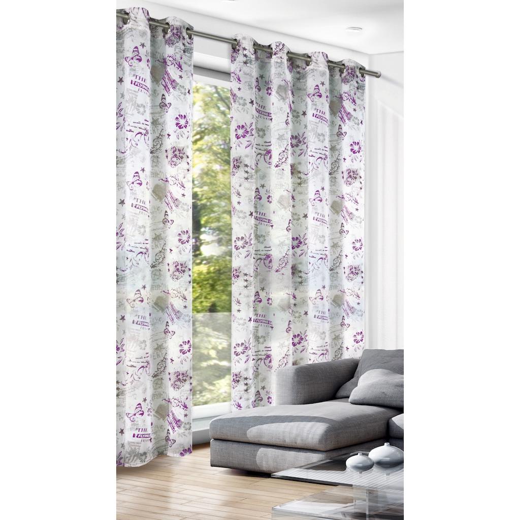 WILLKOMMEN ZUHAUSE by ALBANI GROUP Vorhang »Floral«, Ösenschal