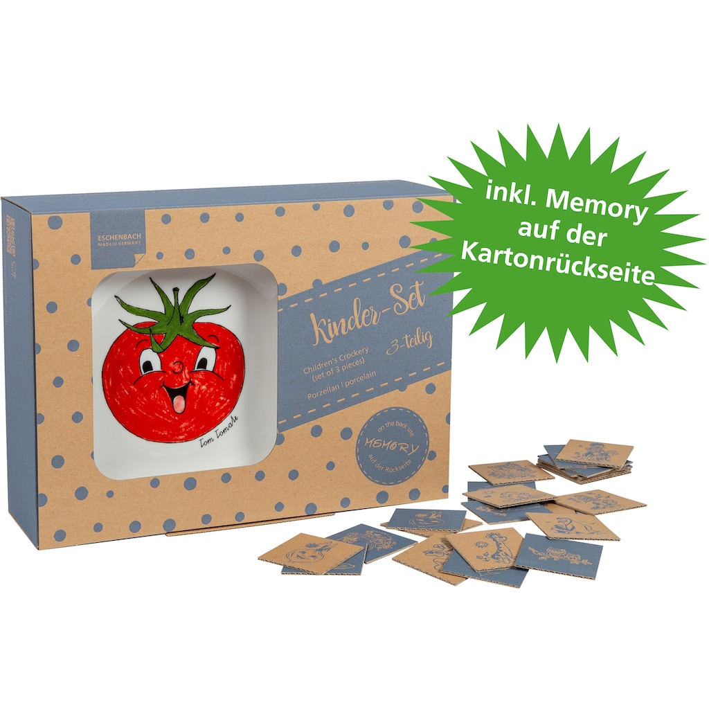 Eschenbach Kindergeschirr-Set »Gesunde Freunde Kohl«, (Set, 3 tlg.)
