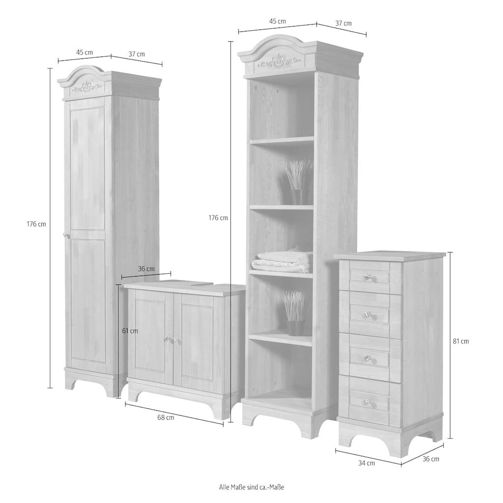 Home affaire Waschbeckenunterschrank »Lecce«, aus Kiefer massiv, Breite 68 cm