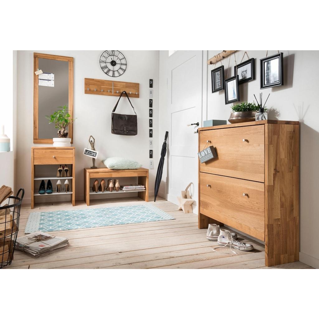 Home affaire Wandspiegel »Dura«, aus schönem massivem Wildeichenholz, Breite 50 cm