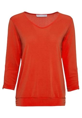 """bianca Blusenshirt »NEA«, in der Trendfarbe """"Flame"""" mit breitem Bündchen kaufen"""