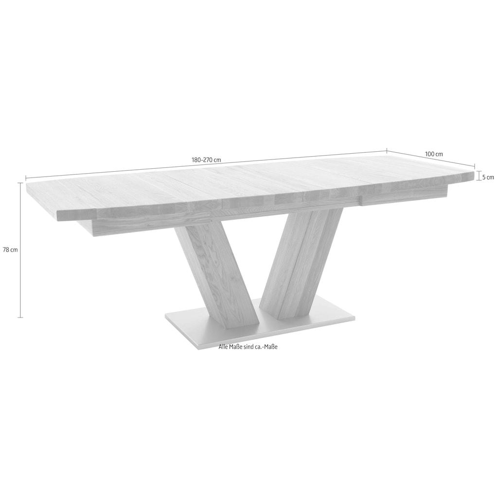 MCA furniture Esstisch »Managua B«, Esstisch Massivholz ausziehbar