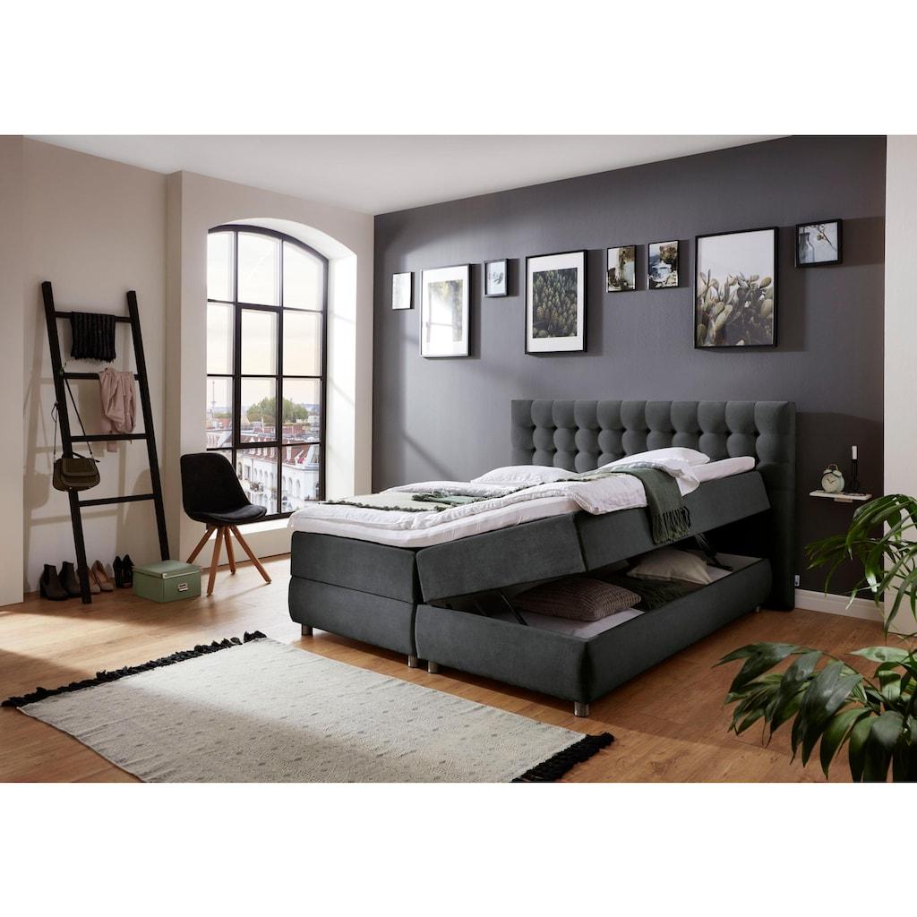 ATLANTIC home collection Boxspringbett, mit Bettkasten und Topper, auch in Überlänge