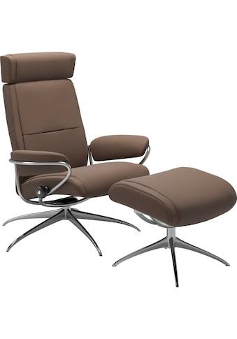 Stressless® Relaxsessel »Paris«, mit Hocker, Low Back mit Kopfstütze, mit Star Base,... kaufen