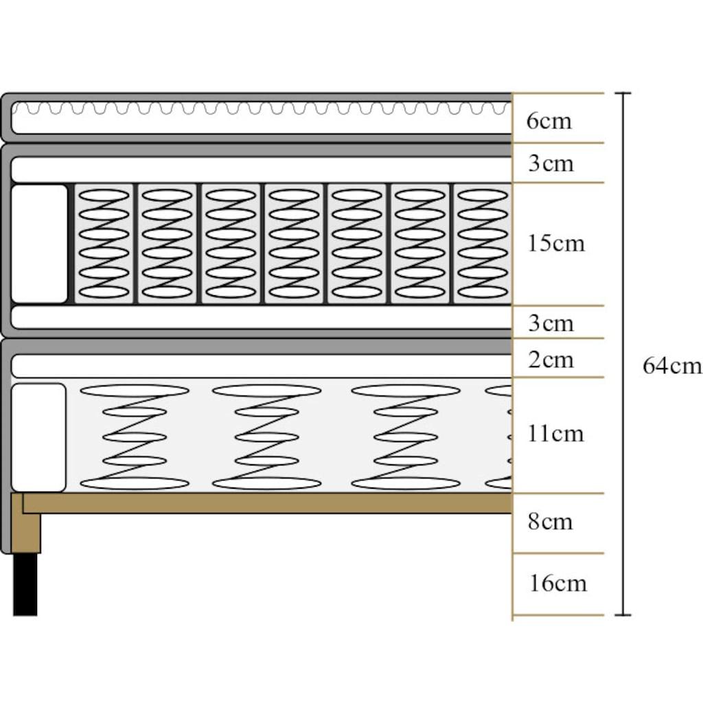 ATLANTIC home collection Boxspringbett, mit Topper in diversen Ausführungen