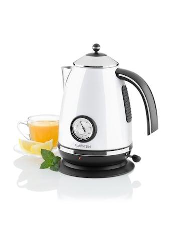 Klarstein Wasserkocher Teekessel 1,7 Liter 2200W weiß kaufen