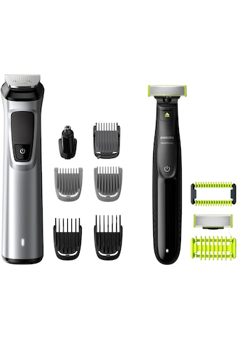 Philips Haar- und Bartschneider »MG9710/90 Multigroom Series 9000 & OneBlade Face+Body«, 12 Aufsätze, 12-in-1-Premium-Trimmset kaufen