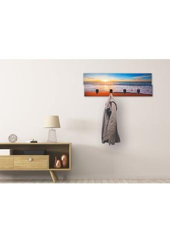 Artland Garderobenpaneel »Sonnenuntergang und das Meer«, platzsparende Wandgarderobe... kaufen