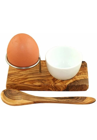 Olivenholz-erleben Eierbecher »Design Plus«, (Set, Eierbecher mit Eierlöffel),... kaufen