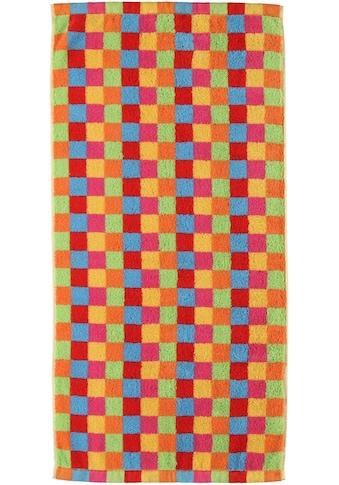 Cawö Badetuch »Lifestyle Cubes«, (1 St.), mit bunten Karos kaufen
