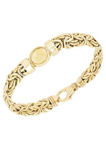 Firetti Goldarmband »Königskettengliederung, glänzend, flach, beidseitig bombiert,... kaufen