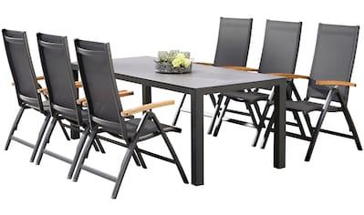 BEST Gartenmöbelset »Cavalese«, 7 - tlg., 6 Sessel, Tisch 210x90 cm, Alumimium kaufen