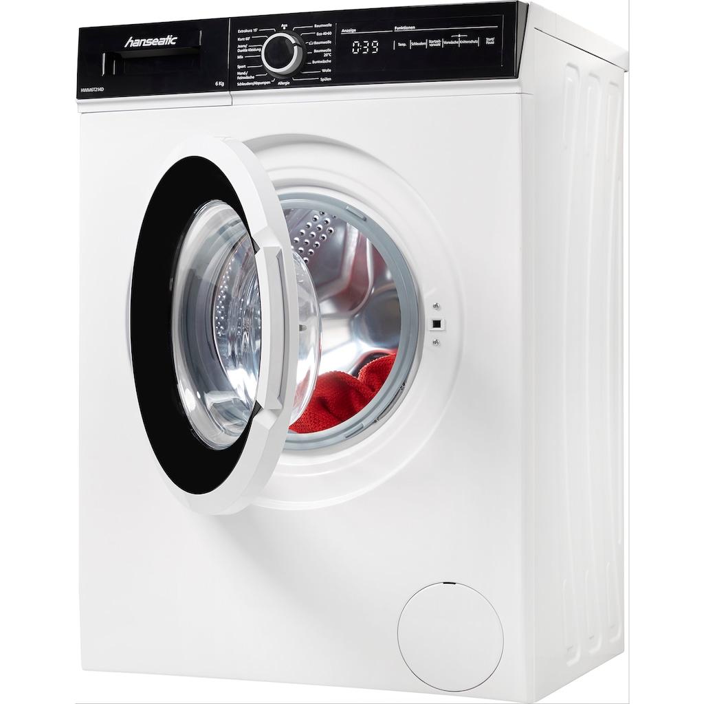 Hanseatic Waschmaschine, HWM6T214D, 6 kg, 1300 U/min