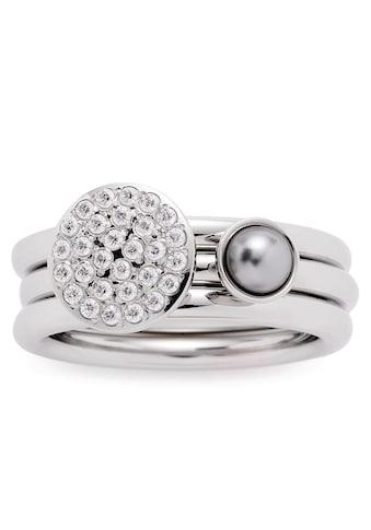 LEONARDO Ring-Set »Micca, 016961, 016962, 016963«, (Set, 2 tlg.), mit Zirkonia und... kaufen