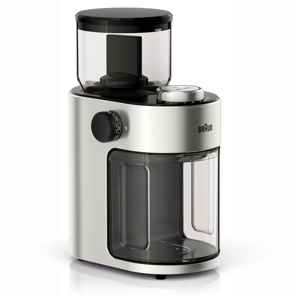 Braun Kaffeemühle »Kaffeemühle FreshSet KG7070«, 110 W, Scheibenmahlwerk, 220 g Bohnenbehälter, mit Überhitzungsschutz