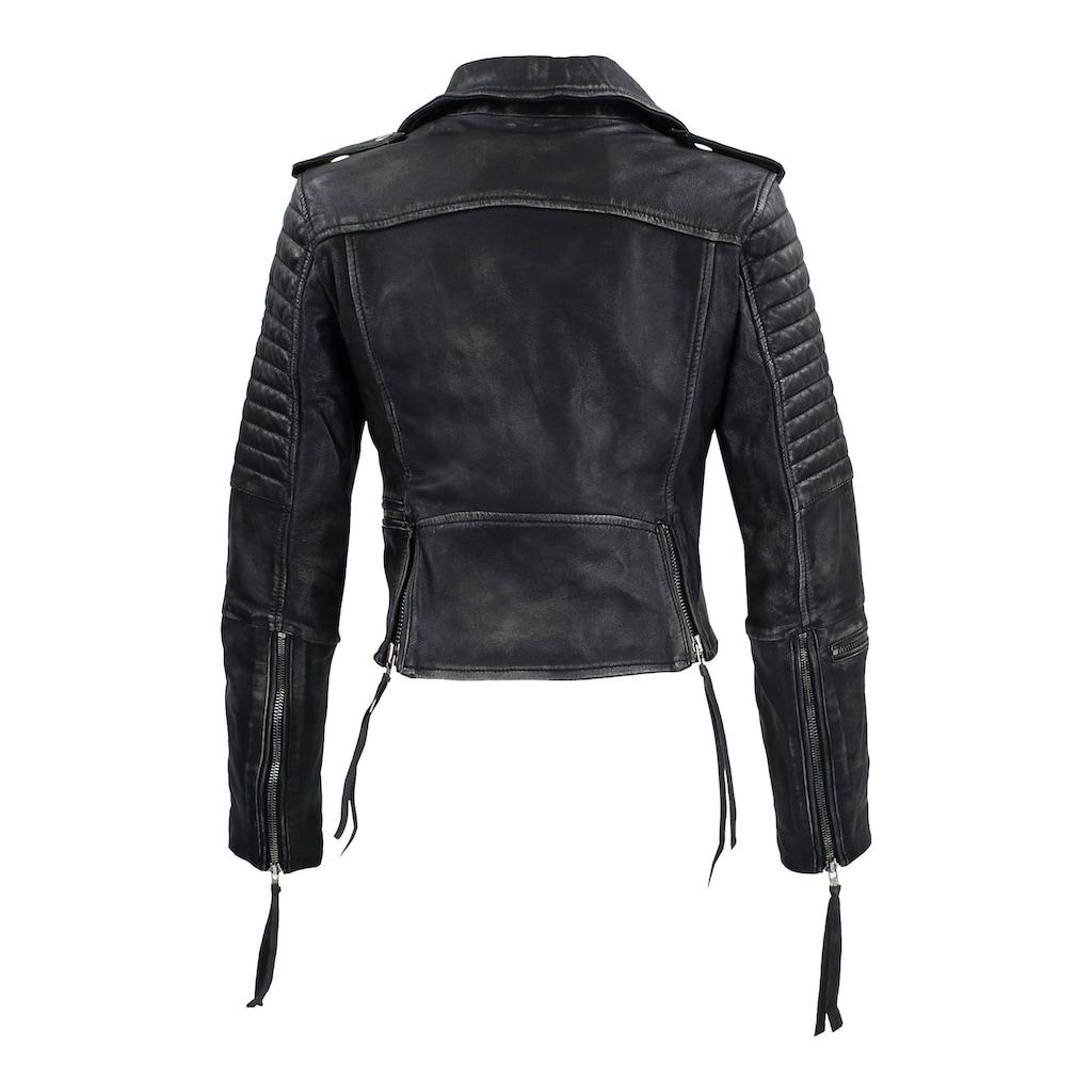 trueprodigy Lederjacke »Avril«, mit Waschung und Reißverschluss Details