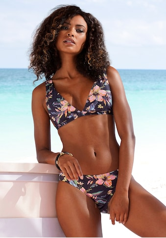 LASCANA Triangel-Bikini-Top »Malia«, mit tropischem Print kaufen