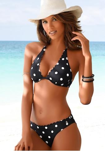 LASCANA Bügel-Bikini-Top »Jada«, mit Muschelkante und Punktedesign kaufen