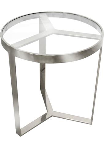 Leonique Beistelltisch »Palmer«, aus Edelstahl kaufen