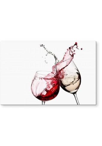 Wall-Art Herd-Abdeckplatte »Spritzschutz Küche Weingläser«, (1 tlg.) kaufen
