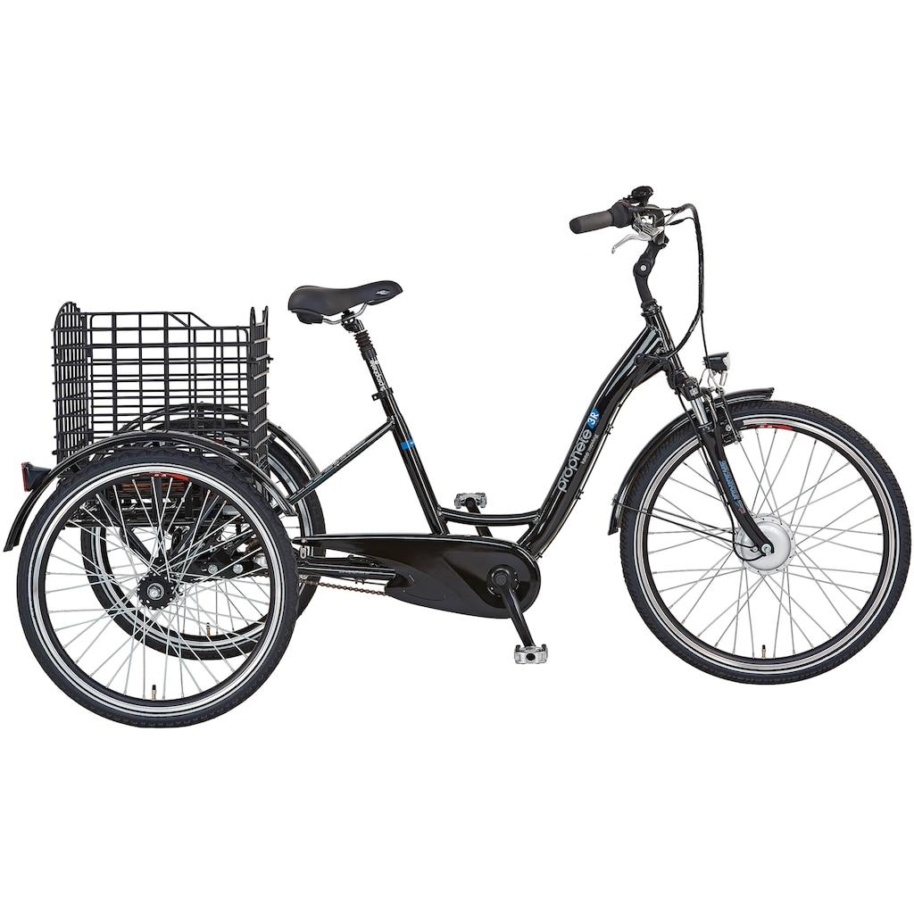 """Prophete E-Bike »CARGO 3R E-Bike 24""""/26""""«, 3 Gang, Shimano, Frontmotor 250 W"""
