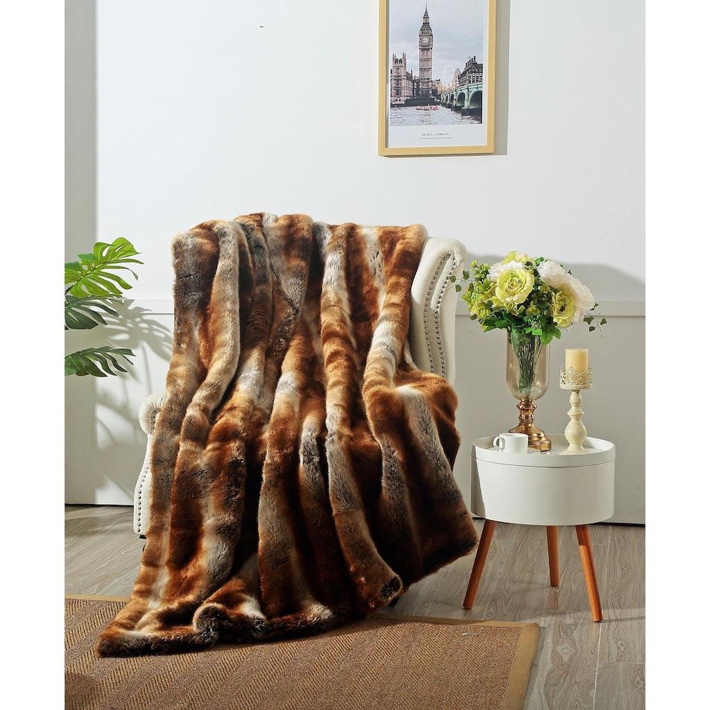 Star Home Textil Wohndecke »Zobel«, aus besonders weichem Webpelz