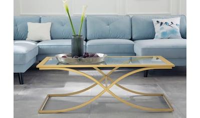 Guido Maria Kretschmer Home&Living Couchtisch »Ballum«, mit edlem Metallgestell und... kaufen
