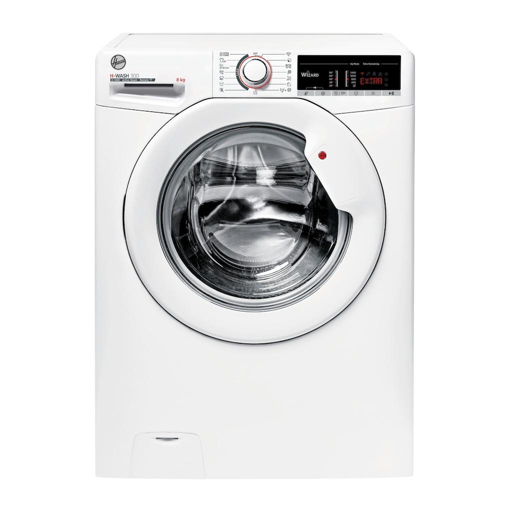 Hoover Waschmaschine, H3WS 485TE-S, 8 kg, 1400 U/min