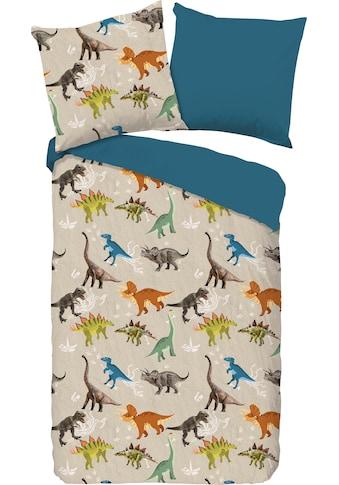 good morning Kinderbettwäsche »Ross«, mit Dinos kaufen