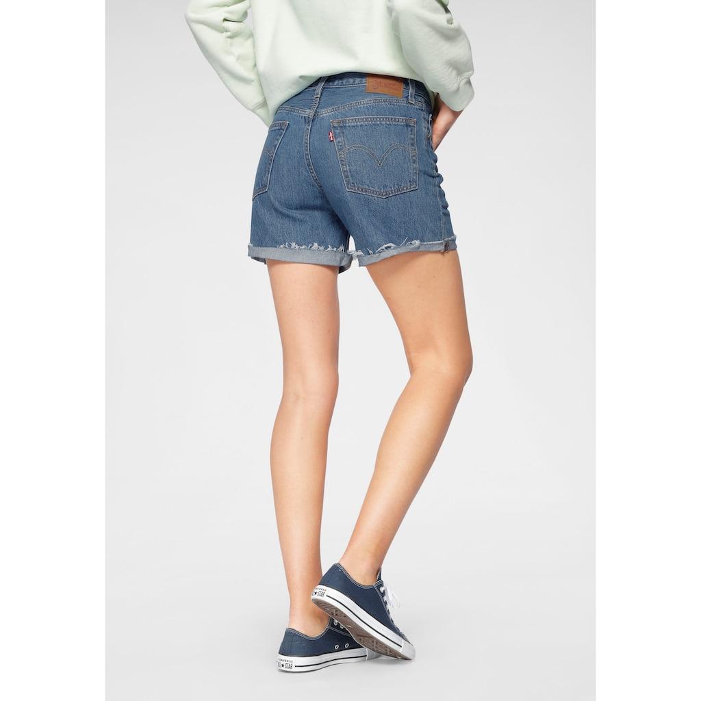 Levi's® Jeansshorts »501 Button«, Mit Knopfverschluss und krempelbarem Saum