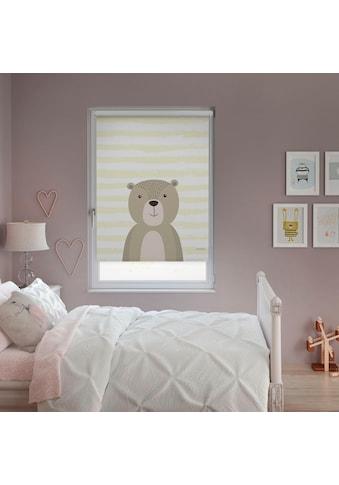 Lüttenhütt Seitenzugrollo »Bär«, verdunkelnd, ohne Bohren, Kinderrollo im Fixmaß kaufen